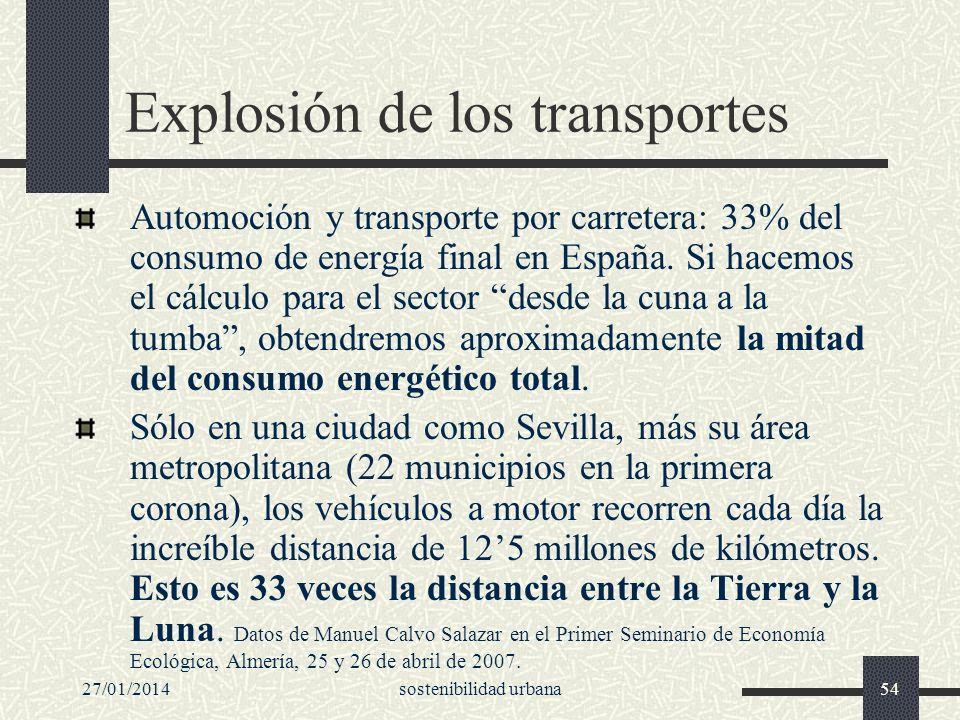 Explosión de los transportes