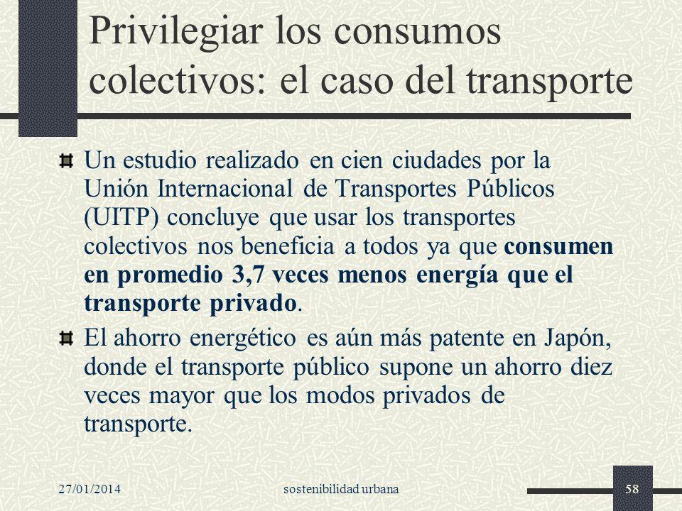 Privilegiar los consumos colectivos: el caso del transporte