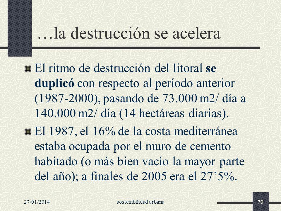 …la destrucción se acelera