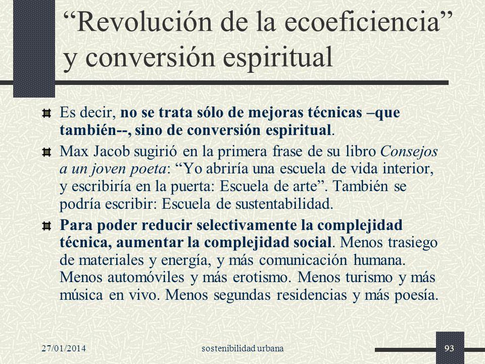 Revolución de la ecoeficiencia y conversión espiritual