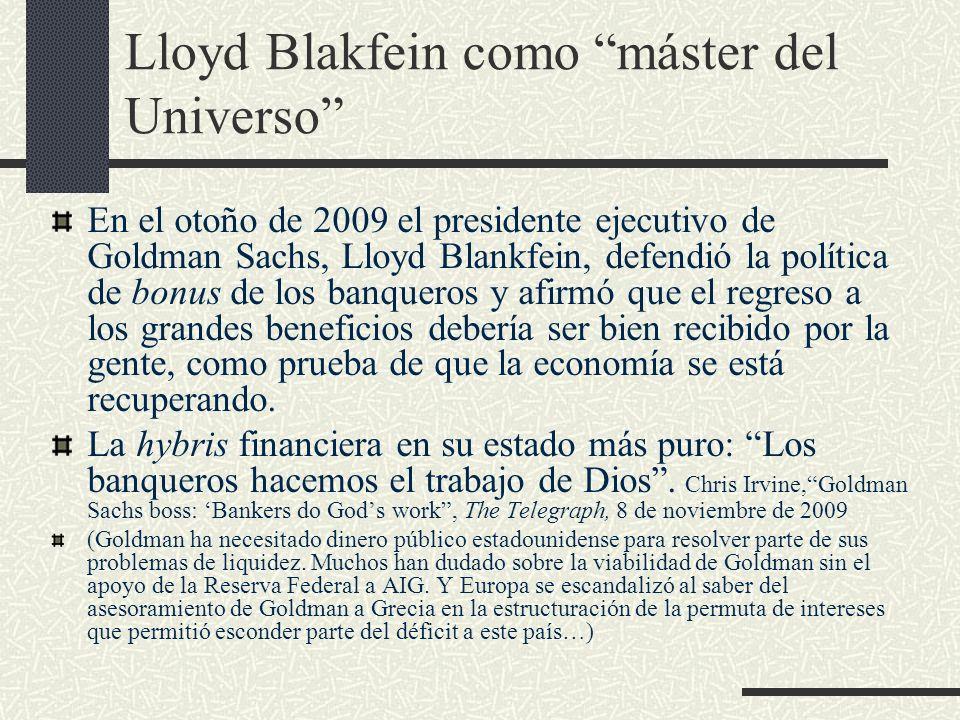 Lloyd Blakfein como máster del Universo