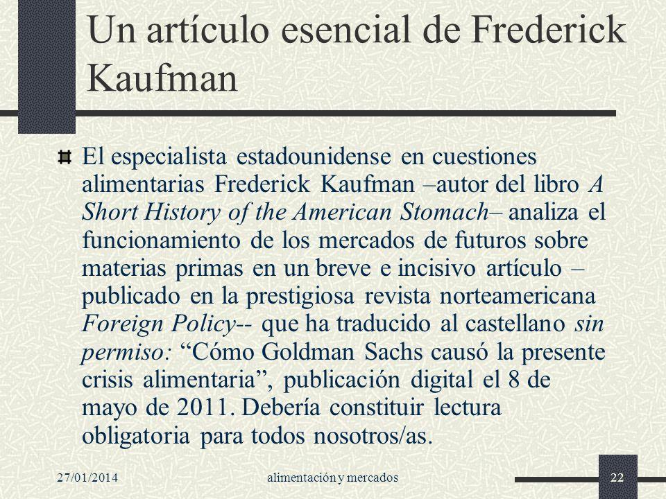 Un artículo esencial de Frederick Kaufman