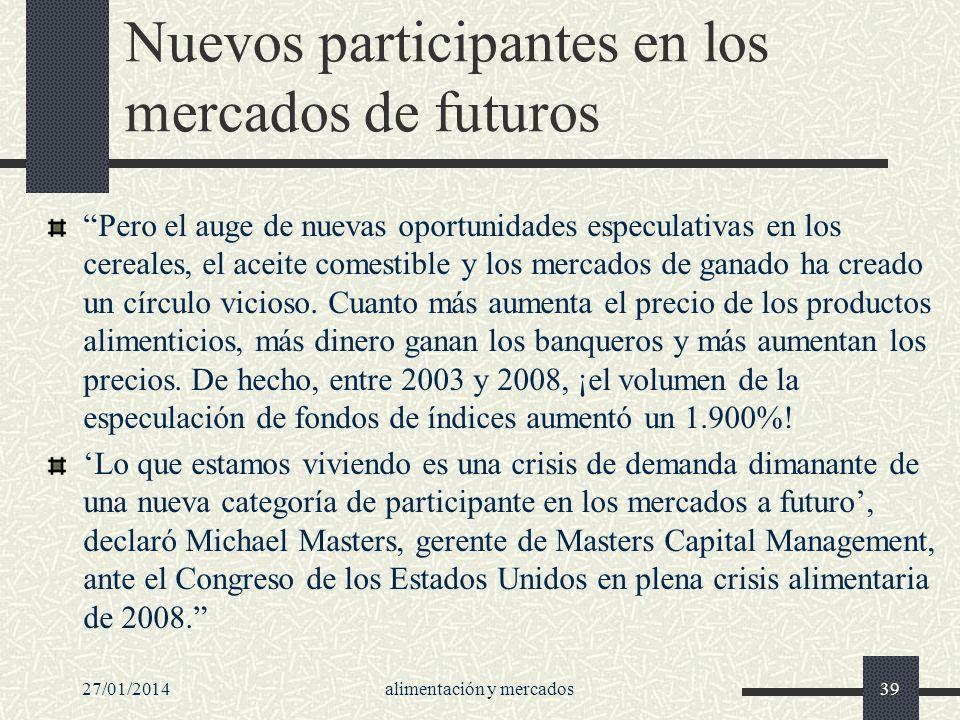 Nuevos participantes en los mercados de futuros
