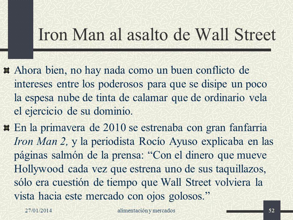 Iron Man al asalto de Wall Street