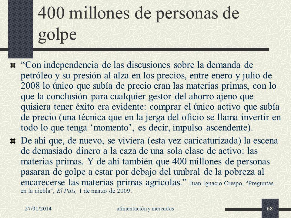 400 millones de personas de golpe