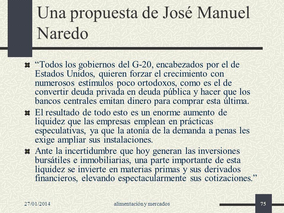 Una propuesta de José Manuel Naredo