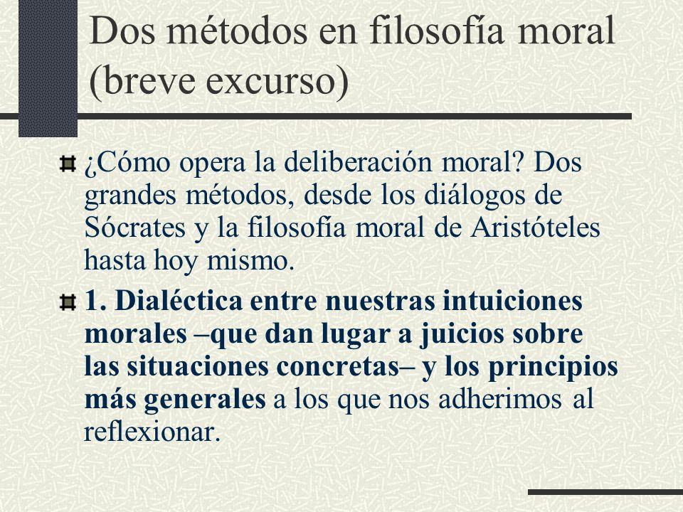 Dos métodos en filosofía moral (breve excurso)