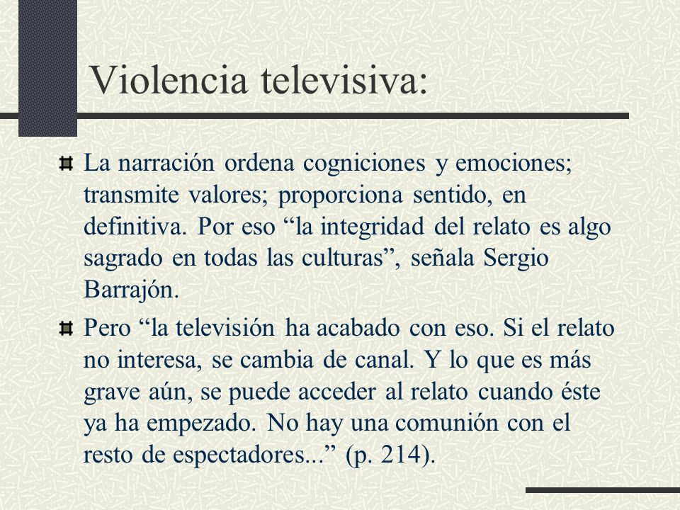 Violencia televisiva: