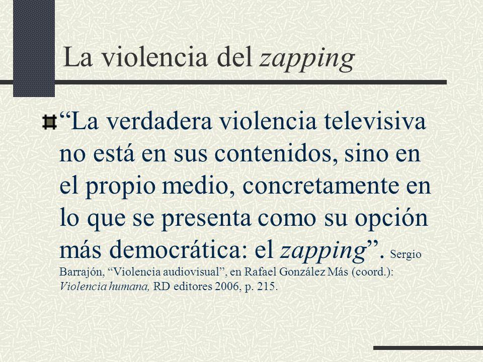 La violencia del zapping