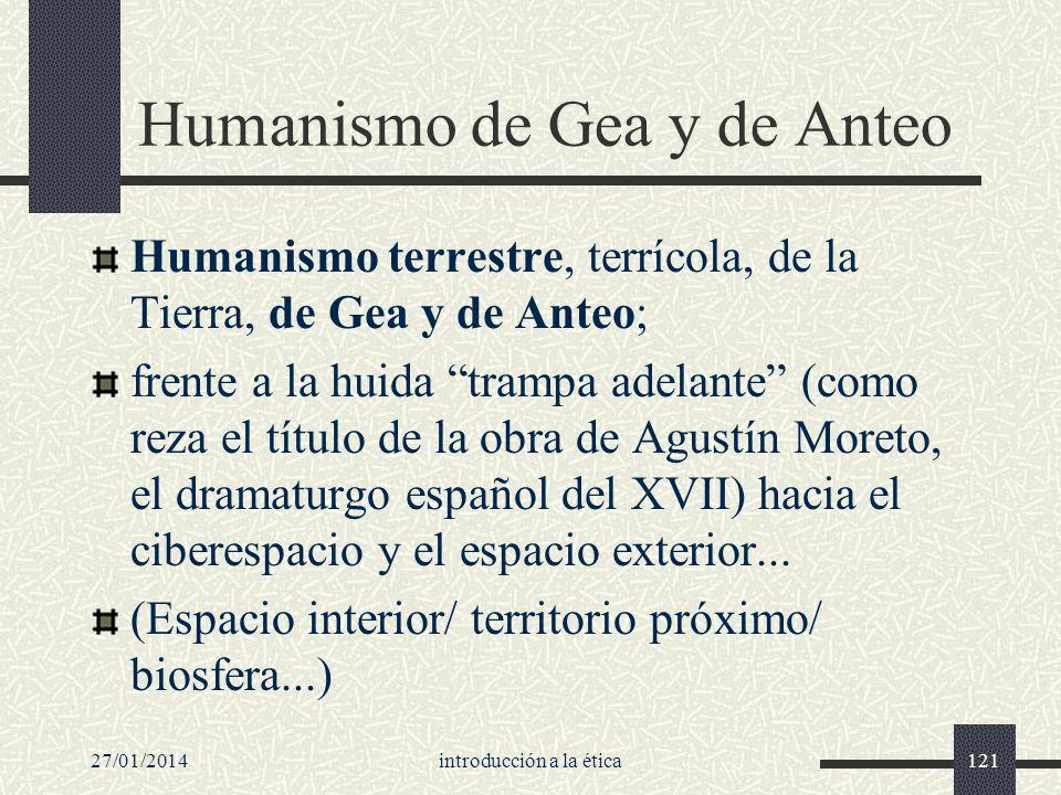 Humanismo de Gea y de Anteo