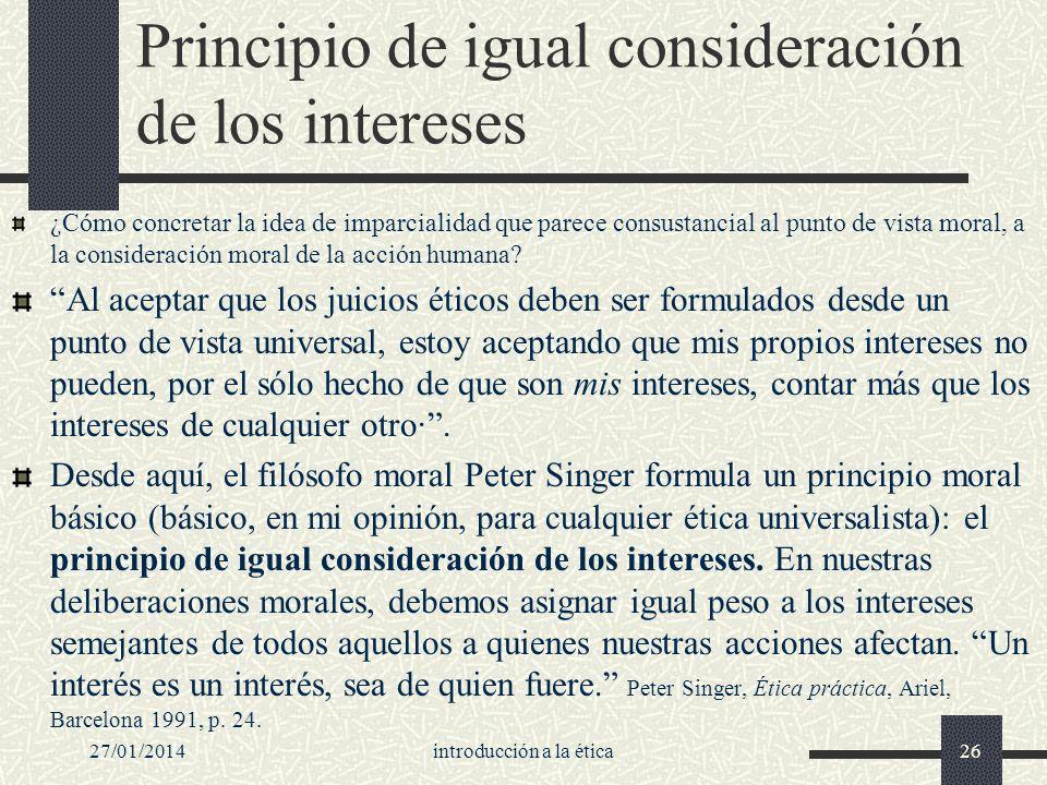 Principio de igual consideración de los intereses