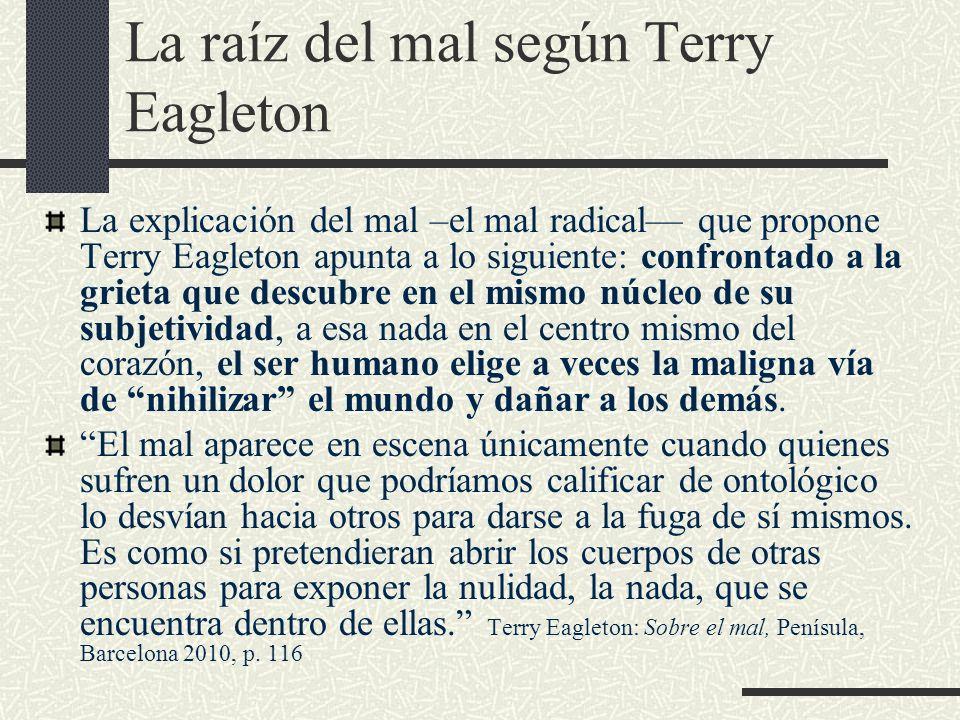 La raíz del mal según Terry Eagleton