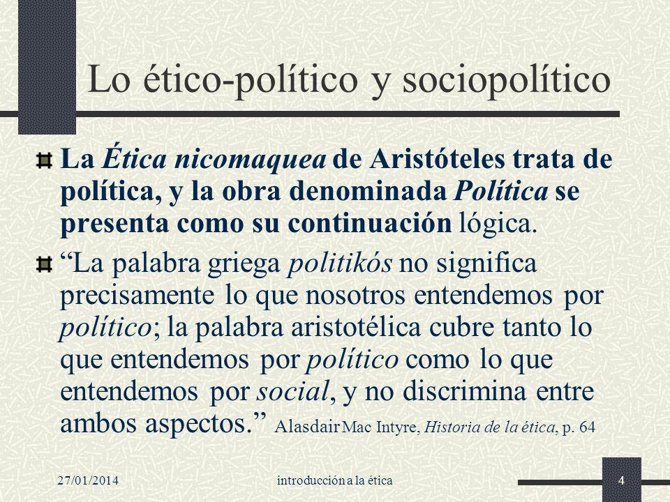 Lo ético-político y sociopolítico