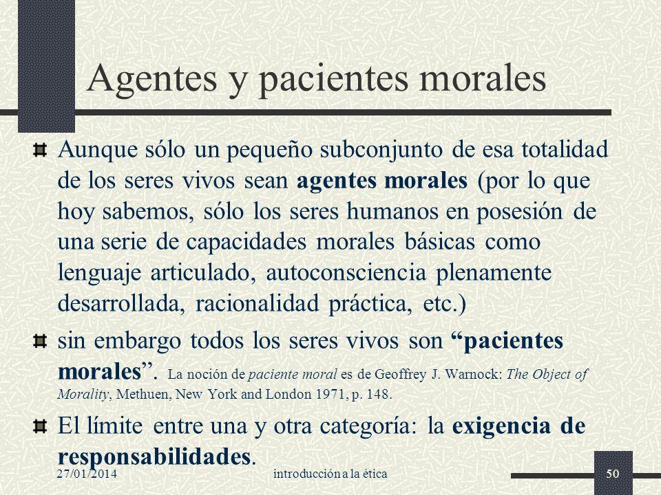 Agentes y pacientes morales