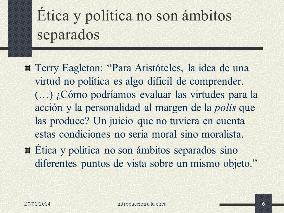 Ética y política no son ámbitos separados