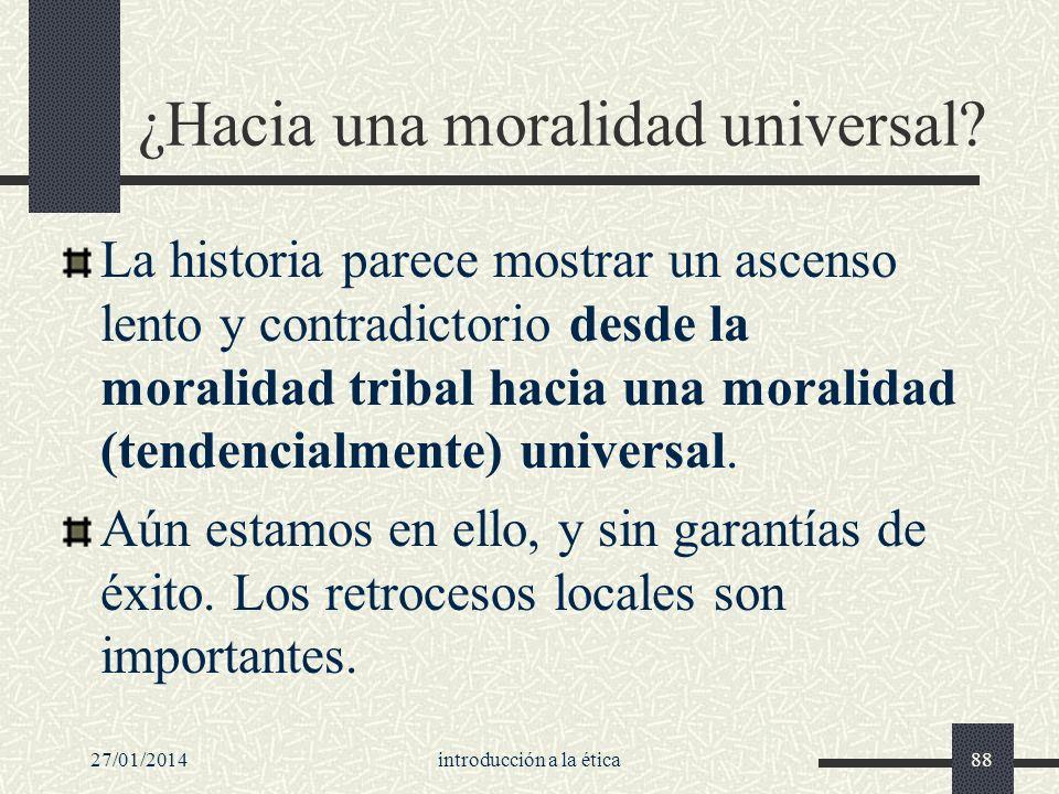 ¿Hacia una moralidad universal