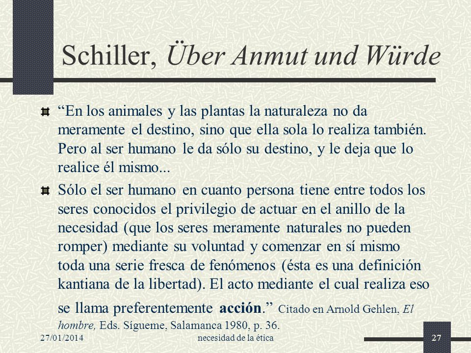 Schiller, Über Anmut und Würde