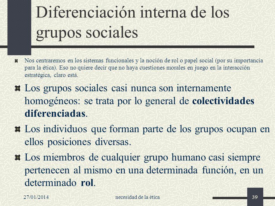 Diferenciación interna de los grupos sociales