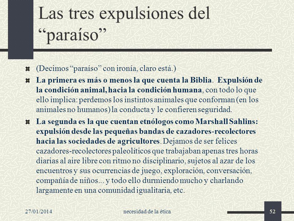Las tres expulsiones del paraíso