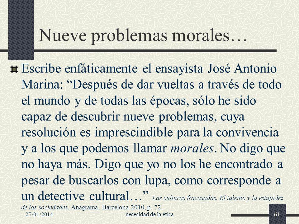 Nueve problemas morales…