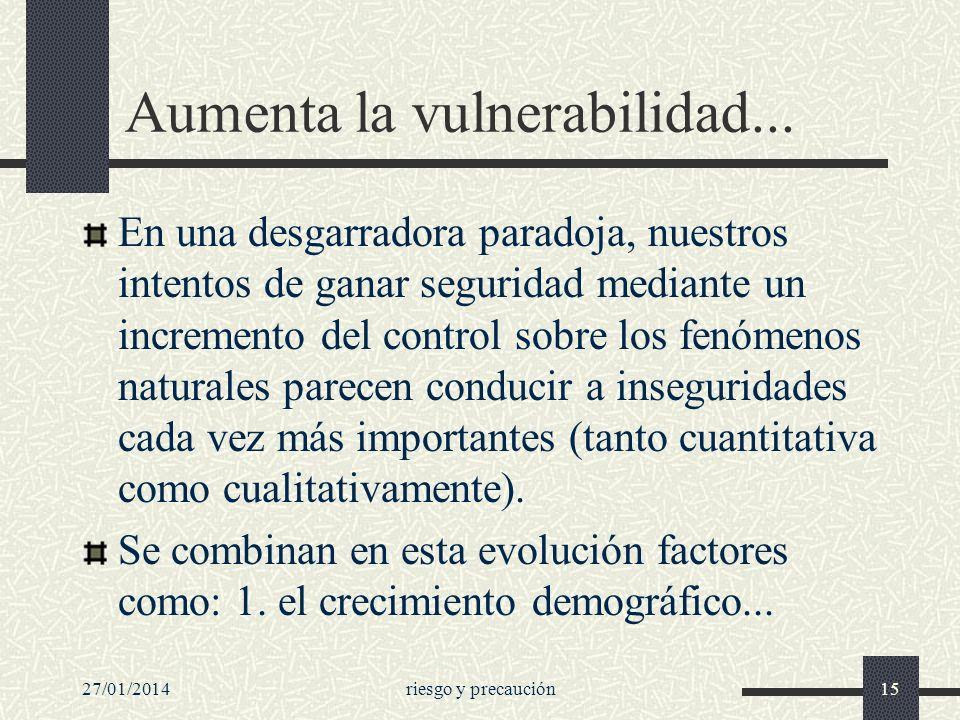 Aumenta la vulnerabilidad...