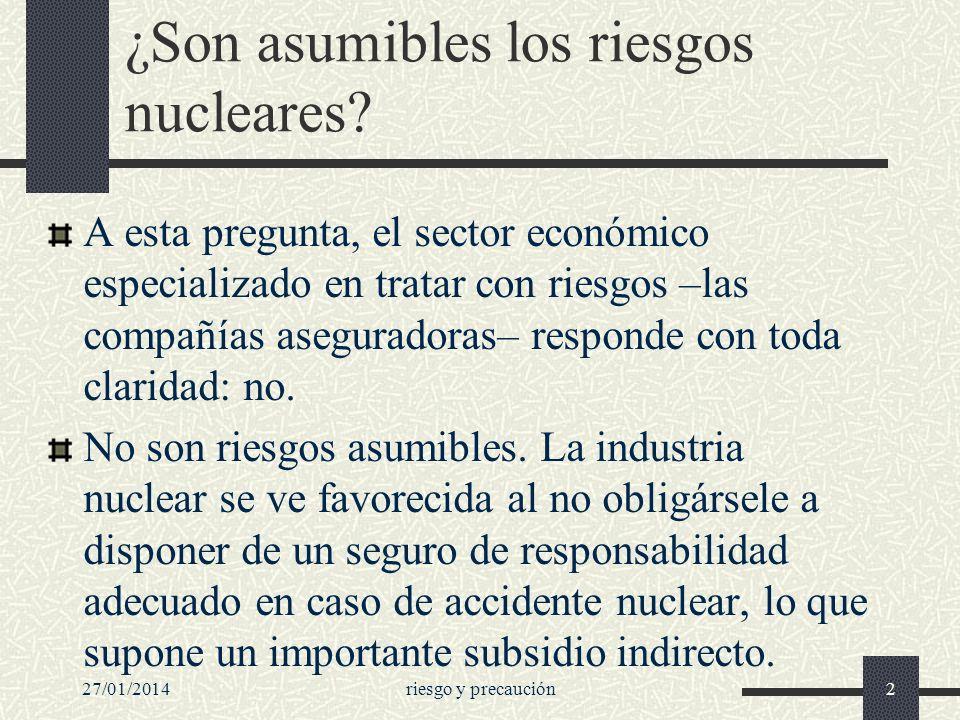 ¿Son asumibles los riesgos nucleares
