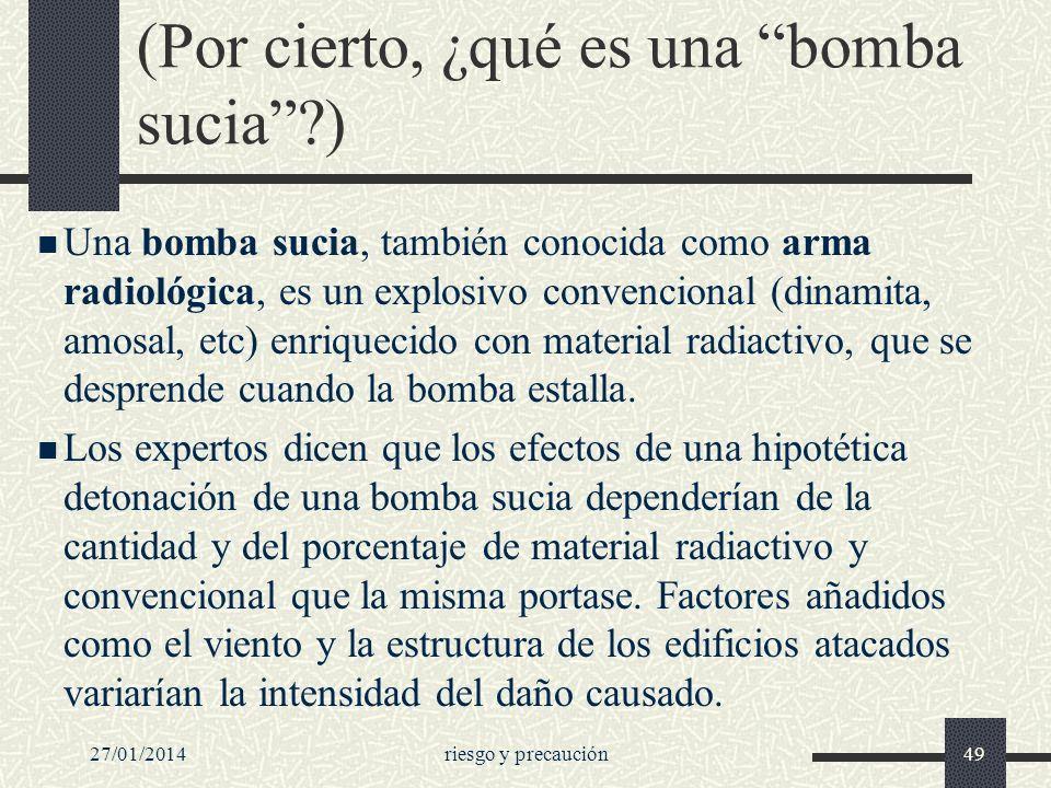 (Por cierto, ¿qué es una bomba sucia )
