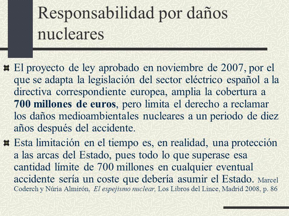 Responsabilidad por daños nucleares