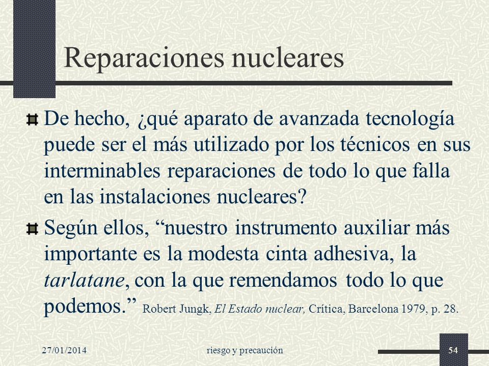 Reparaciones nucleares