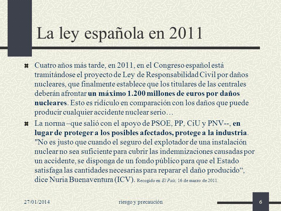 La ley española en 2011