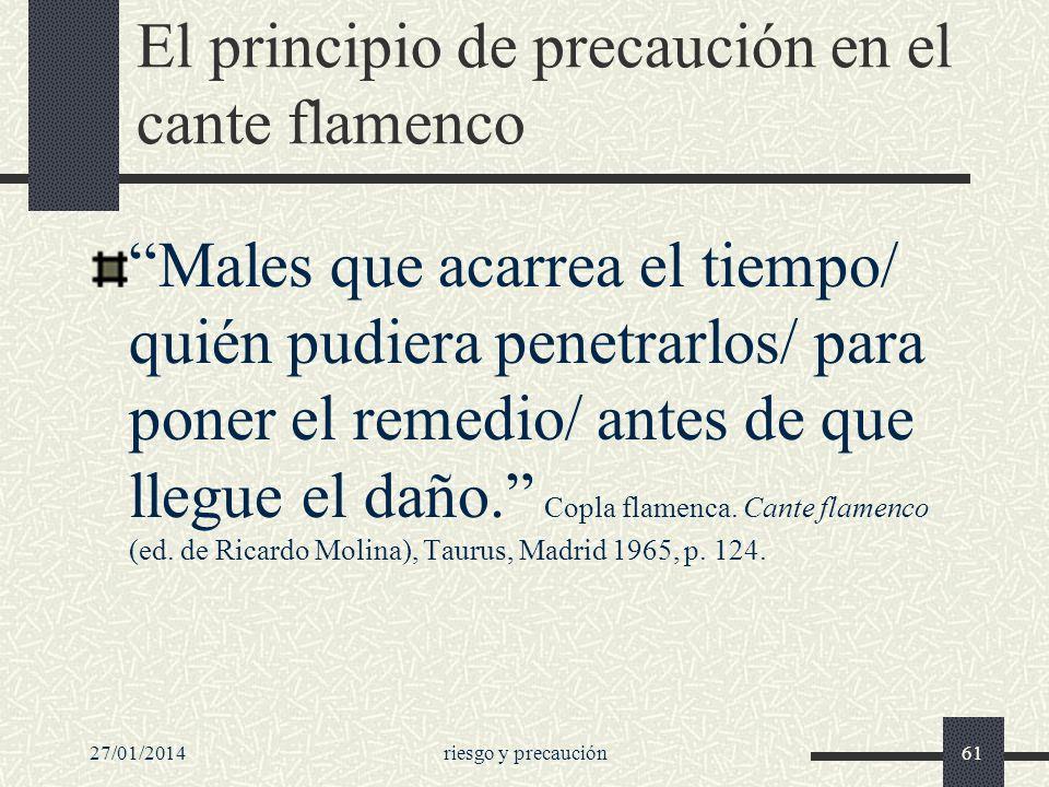 El principio de precaución en el cante flamenco
