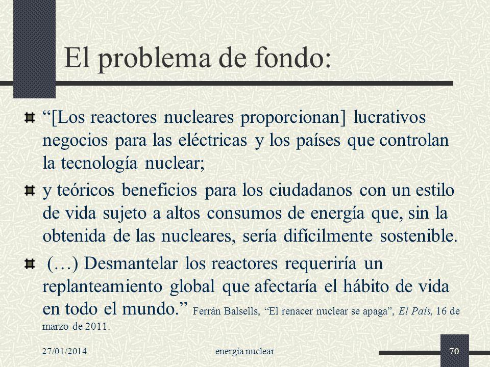 El problema de fondo: