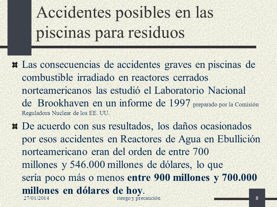 Accidentes posibles en las piscinas para residuos