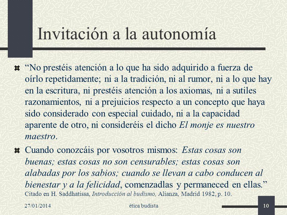 Invitación a la autonomía