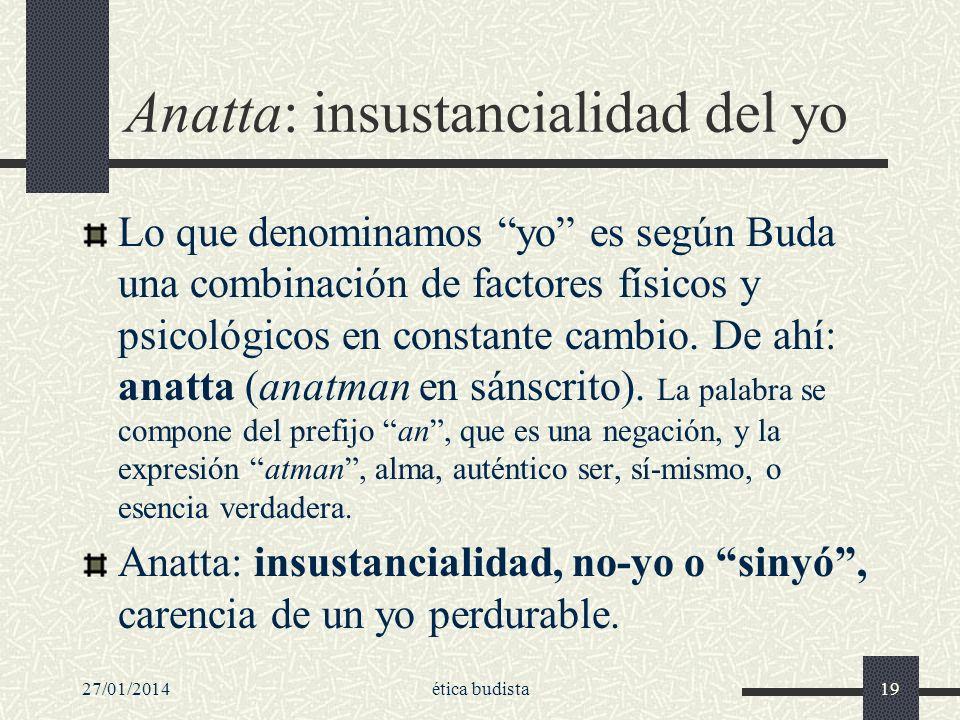 Anatta: insustancialidad del yo