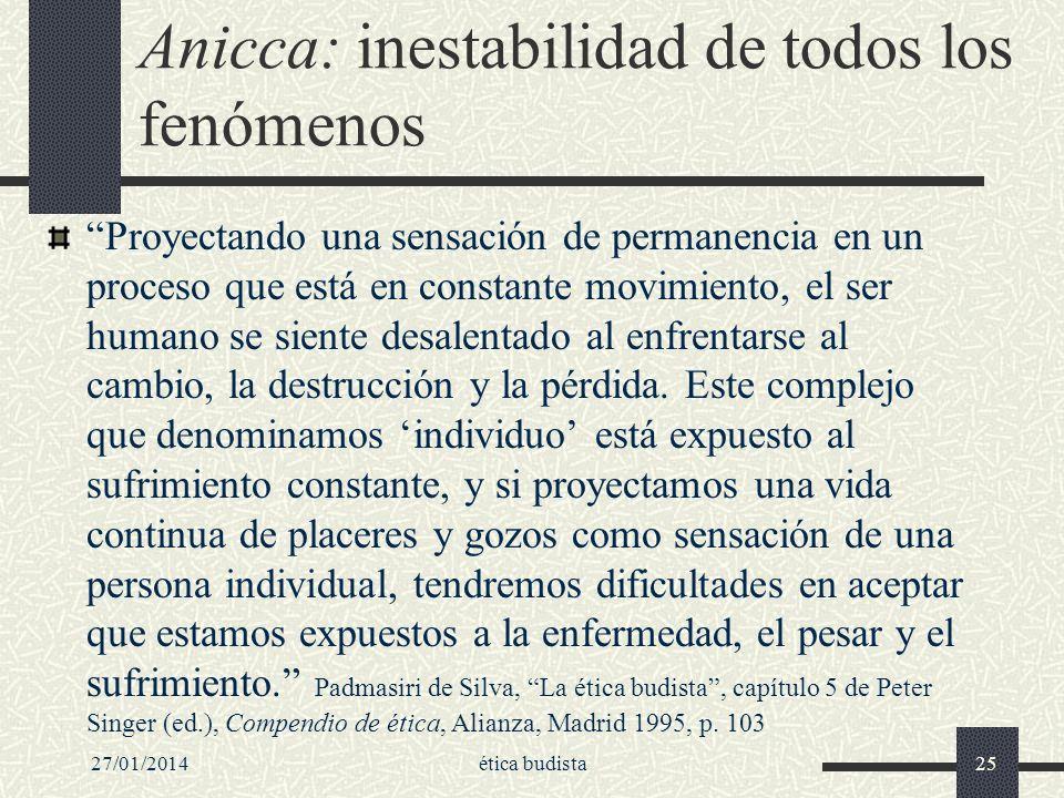 Anicca: inestabilidad de todos los fenómenos