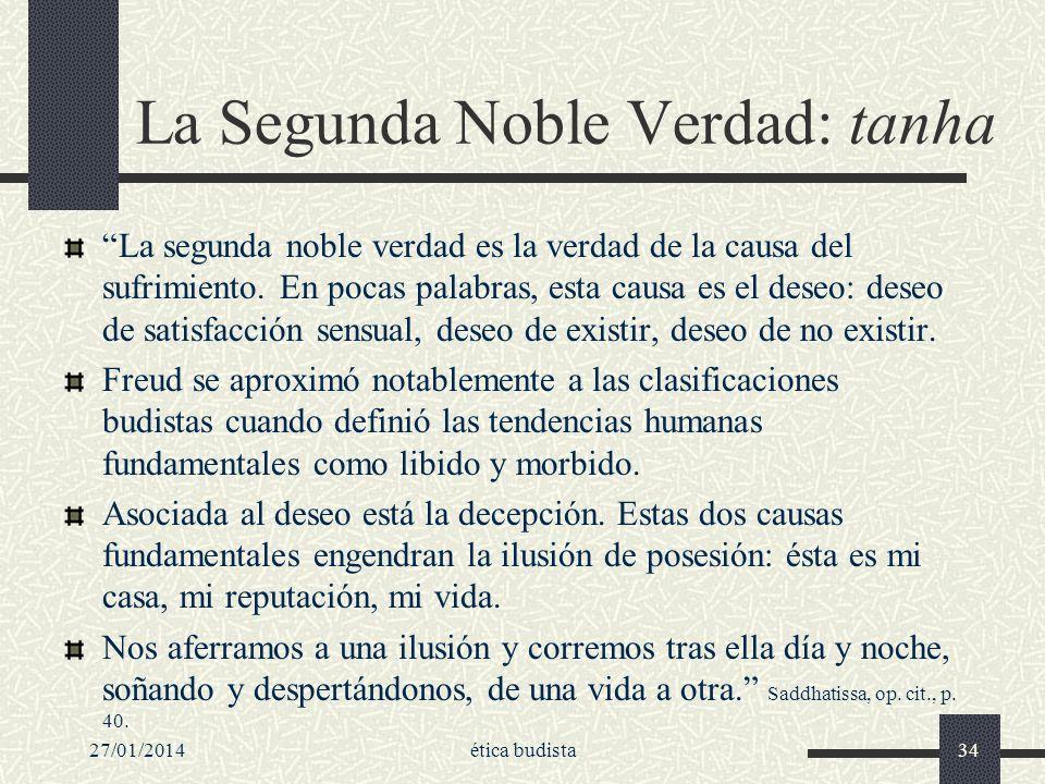 La Segunda Noble Verdad: tanha