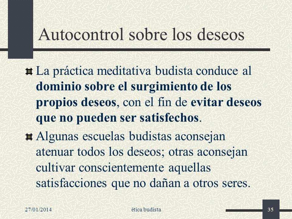 Autocontrol sobre los deseos