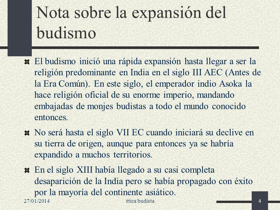 Nota sobre la expansión del budismo