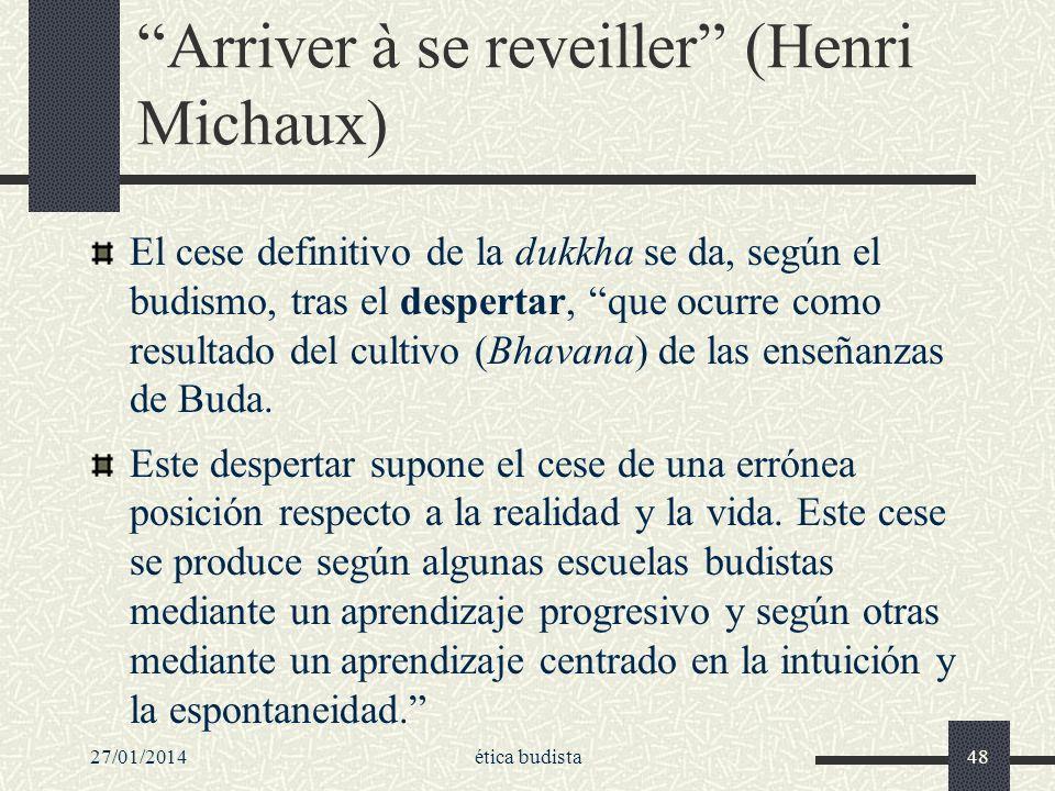 Arriver à se reveiller (Henri Michaux)