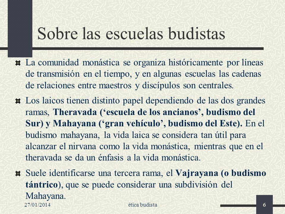 Sobre las escuelas budistas