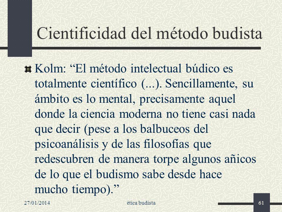 Cientificidad del método budista