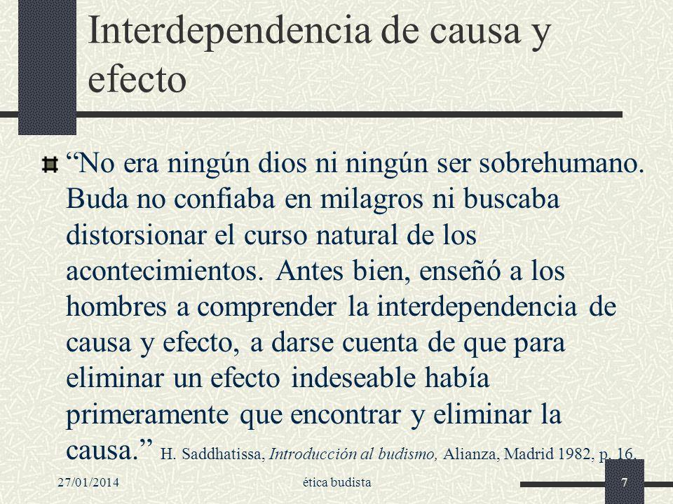 Interdependencia de causa y efecto