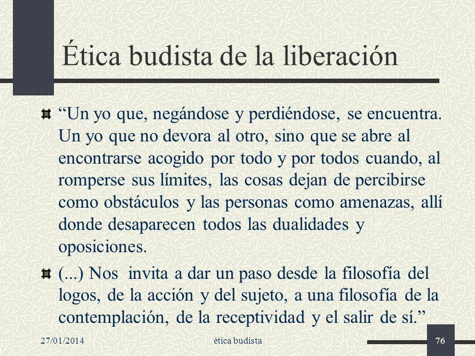 Ética budista de la liberación