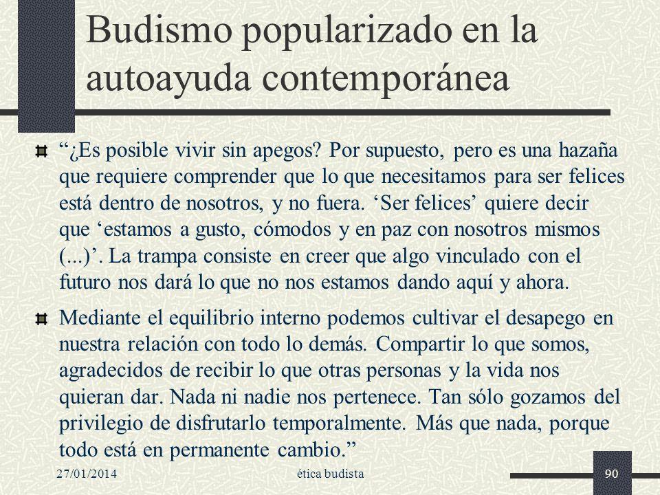 Budismo popularizado en la autoayuda contemporánea