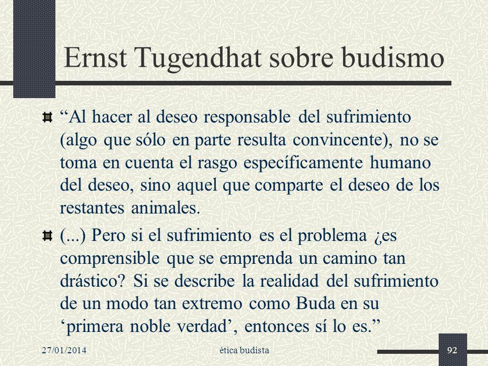 Ernst Tugendhat sobre budismo