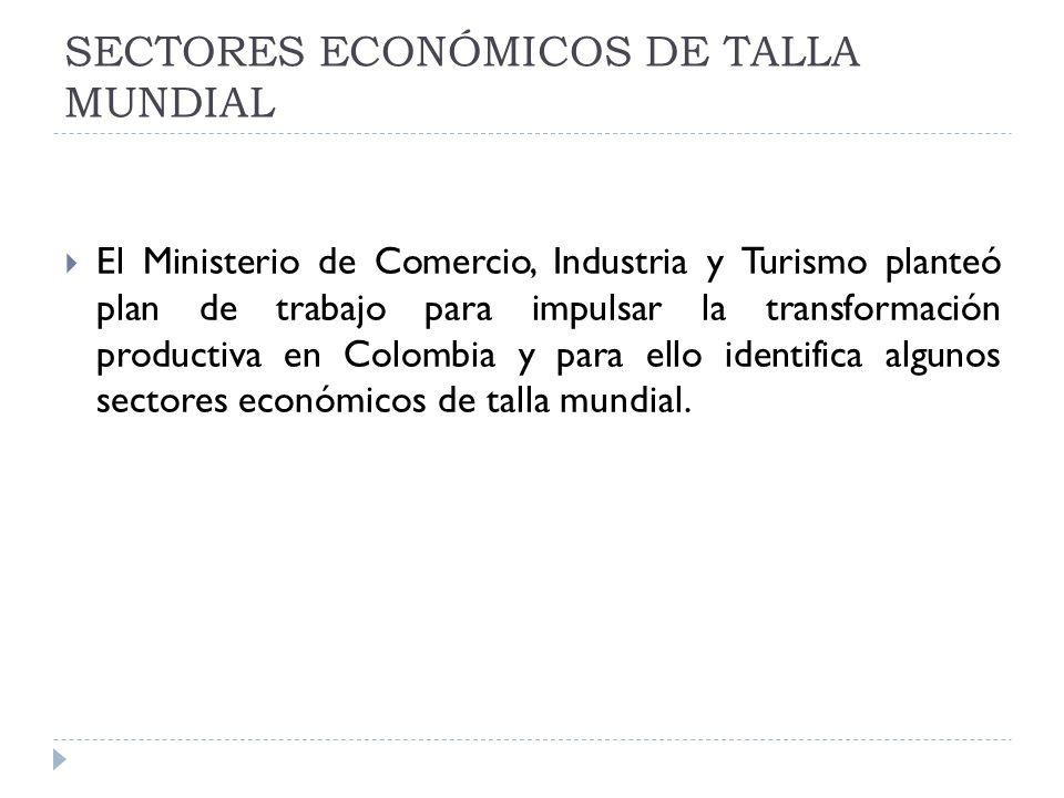 SECTORES ECONÓMICOS DE TALLA MUNDIAL