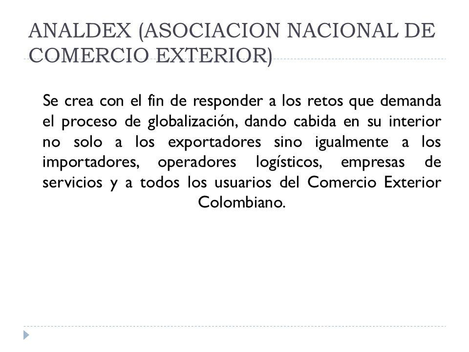 ANALDEX (ASOCIACION NACIONAL DE COMERCIO EXTERIOR)