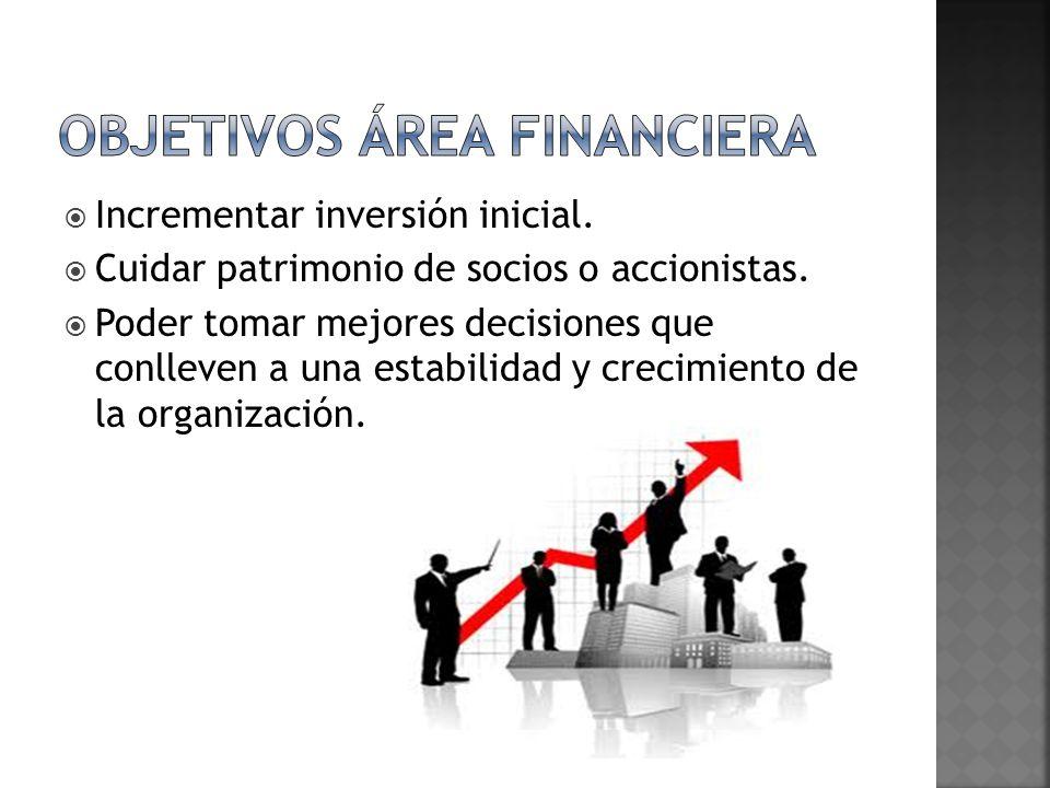Objetivos área financiera