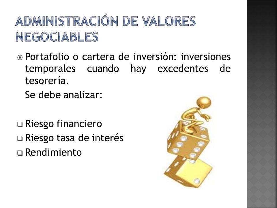 Administración de valores negociables